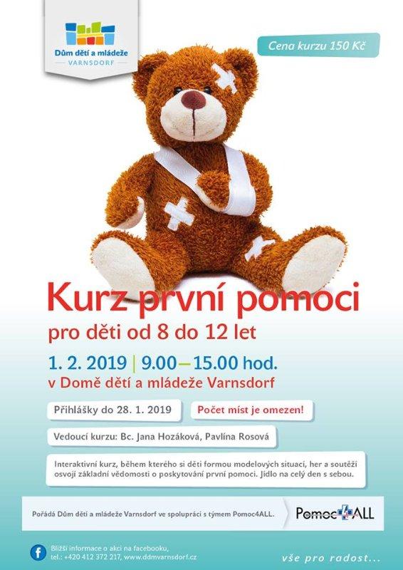 Pololetní kurz první pomoci pro děti