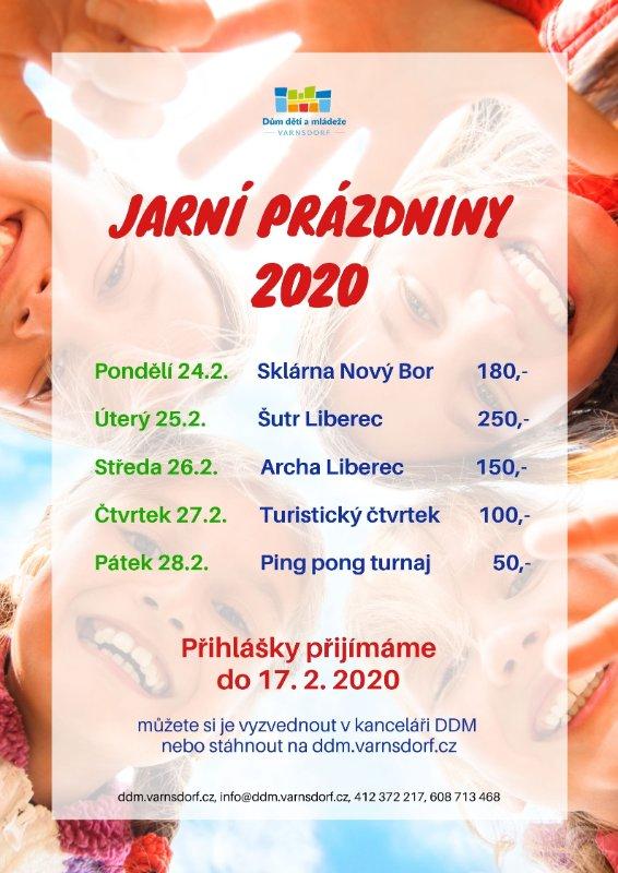 Jarní prázdniny 2020